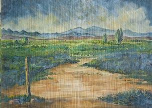 Painting of the Utah Desert in early summer