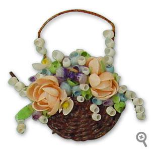 Brooch made from sea shells